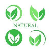 uppsättning etikett, logotyp med text naturprodukt. naturlig vektor design. logotyp