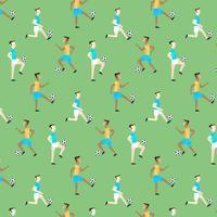 Nettes Muster mit den Leuten, die Fußball spielen vektor