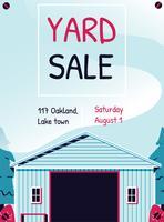 Yard-Verkaufs-Zeichen-Schablonen-Plakat