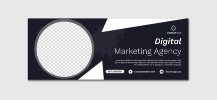 Banner-Design für digitale Marketing-Vorlagen für soziale Medien, Zeitachse für Werbung für digitales Geschäftsmarketing, Facebook und Cover-Vorlage für soziale Medien vektor