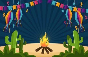 festa junina firande bakgrund vektor