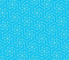 geometrisches Muster mit dreidimensionaler Form vektor