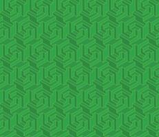 Sechseckmuster mit dreidimensionaler Form vektor