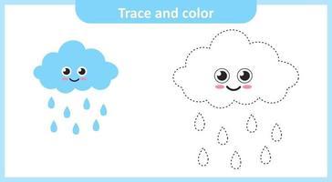 Spuren und Farbe bewölkten Regen vektor