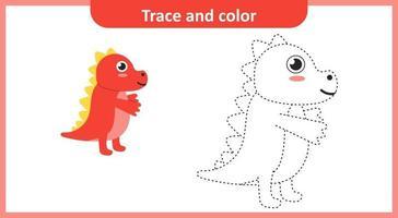 Spur und Farbe niedlichen Dinosaurier vektor