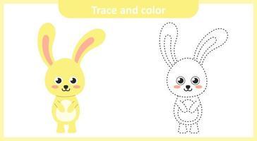 Spur und Farbe niedlichen Kaninchen vektor