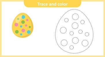Osterei verfolgen und färben vektor
