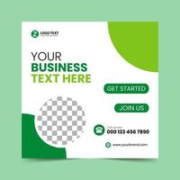 grüne Social-Media-Post-Design-Vorlage vektor
