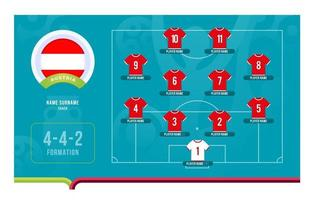 Vektorillustration der Fußball-Endphase des österreichischen Aufstellungsfußballturniers vektor