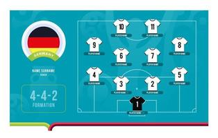 Deutschland Line-Up Fußballturnier Endstufe Vektor-Illustration vektor