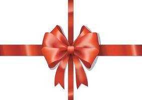 schöne rote Schleife mit horizontalem rotem Band lokalisiert auf weißem Hintergrund. Vektorillustrator 10 vektor