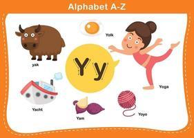Alphabet Buchstabe y Vektor-Illustration vektor