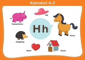 Alphabet Buchstabe h Vektor-Illustration vektor