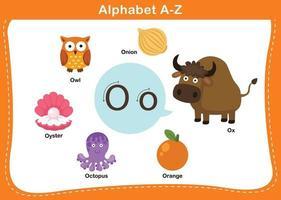 Alphabetbuchstabe o Vektorillustration vektor