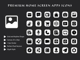 Startbildschirm Apps Icon Pack vektor