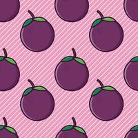 nahtlose Musterillustration der Mangostanfrucht vektor