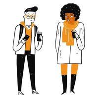 zwei verschiedene Frauen vektor