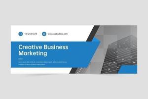 professionelle Corporate Business Banner Design-Vorlage vektor