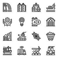 Industrien und Mühlen vektor