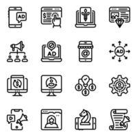 digital marknadsföring och dataanalys vektor