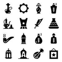 saudische kulturelle Elemente vektor