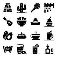 mexikanische Kultur und Elemente vektor