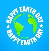 glad jord dag 22 april vektor banner med jord karta