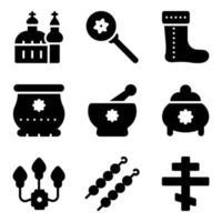 trendige russische Elemente vektor