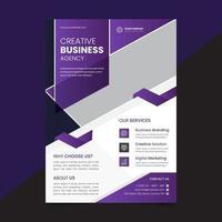 företagskonferens affärsblad mall vektor