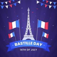 Happy Bastille Day Festival Hintergrund vektor