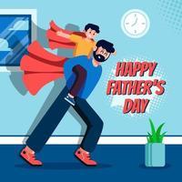 firar fars dag med sonen vektor