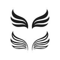 Falkenflügel-Logo-Schablonenvektor vektor