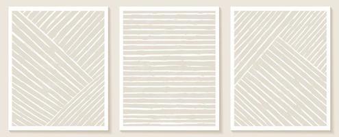 samtida mallar med organiska abstrakta former och linje i nakna färger. pastell boho bakgrund i minimalistisk mitten av århundradet stil vektorillustration vektor