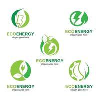 Bilder des Öko-Energielogos vektor