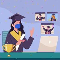 virtueller Abschluss im Computer vektor