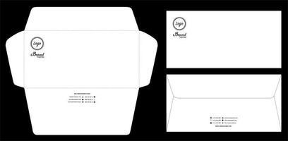 Briefumschlag gestanzte Mock-up-Vorlage Vektor