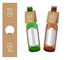 Papierflaschenhals hängen Tag gestanzten Vektor