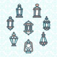 süße Laterne der Ramadan-Ikone vektor