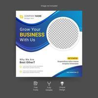 Live-Webinar für digitales Marketing und Beitragsvorlage für soziale Medien in Unternehmen vektor