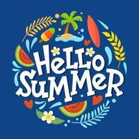 Hallo Sommer Hintergrund Konzept vektor