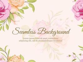 schöne Blumen nahtlose Hintergrundschablone vektor