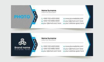 E-Mail-Signaturvorlage mit Informationen für das Unternehmensgeschäft. vektor