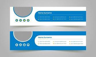 modernes Design der E-Mail-Signaturvektorvorlagen. vektor