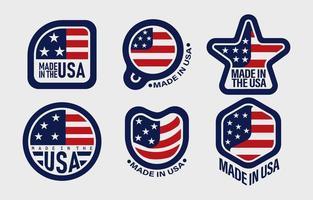 amerikansk logotyp koncept vektor