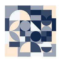 abstrakter Musterhintergrund der modernen trendigen Formen mit quadratischem Kreis der geometrischen Formen vektor