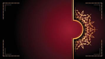 luxuriöser dekorativer Mandala-Logo-Hintergrund im Arabeskenstil. vektor