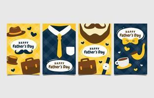 lycklig fars dag gratulationskort samling vektor