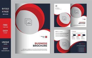 Designvorlage oder Flyer-Layout für Unternehmensbroschüren vektor