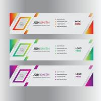 affärsprofessionell e-post signatur mall mail design layout vektor
