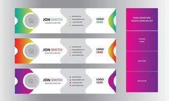 E-Mail-Design-Layout für professionelle E-Mail-Signaturvorlagen für Unternehmen vektor